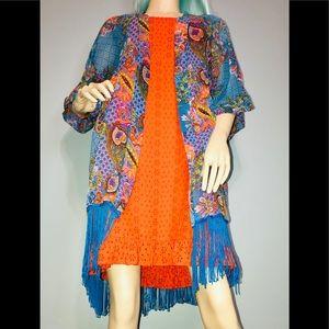 Other - Fringed Kimono Beach Wear Coverup 👘/ (OSFM)